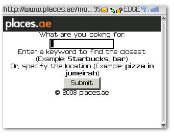 Places.ae BlackBerry Home