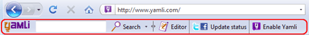Yamli Toolbar