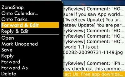 Forward, Reply & Edit